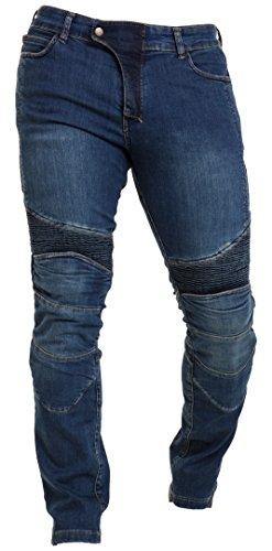 Stretch Casual Pant (Qaswa Herren Motorradhose Jeans Motorrad Hose Motorradrüstung Schutzauskleidung Motorcycle Biker Pants, Blue, 36W / 30L)