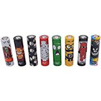 18650 Pre Cut Cartoon Series Battery Protective Wraps Cover, Sleeves Heat Shrink PVC Tubing Tubes Shrink Film 5 Styles Replacement Cover Skin