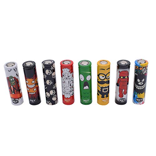 Demon Killer 18650 Battery Wraps Cartoon Heat Shrink PVC Tubing 29 mm 100% Authentic Pre Cut 18650 Battery Sleeve Shrink Film Replacement, 8 Styles Cartoon Cover Skin, Random Color And Design 50 PCS
