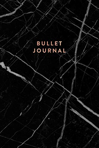 Bullet Journal: Executive Black Marble and Rose Gold Dot Grid Notebook  | 6 x 9 Journal (Marble and Gold Bullet Journal, Band 1) (Executive Journal Black)