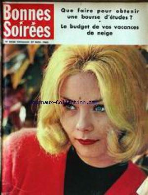 BONNES SOIREES [No 2024] du 27/11/1960 - UNE BOURSE D'ETUDE - VOS VACANCES DE NEIGE.
