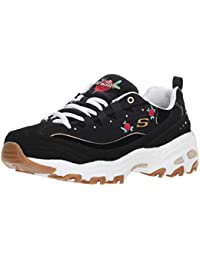 release date: 9645b 66239 Skechers Womens Burgundy D Lites Rose Bloom Trainers