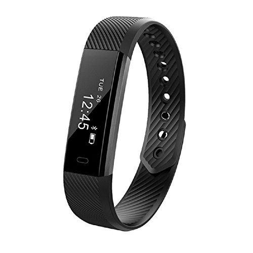Curiocity Bluetooth Smart Band & Fitness Tracker For Android/iOS Mobile Phones - Black