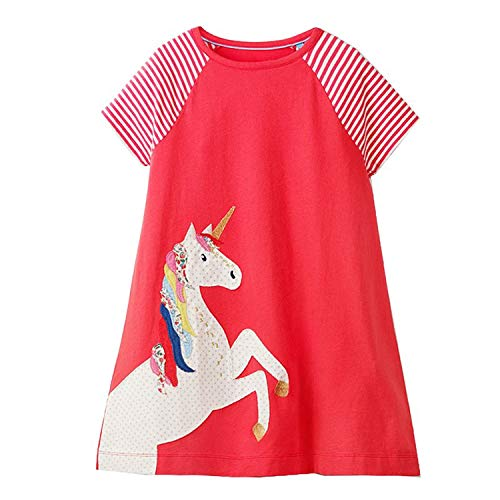 RBHSG Baby Girls Summer Dress 2019 Brand 100% Cotton Princess Dress for Girl Clothes Unicorn Dresses Kids Clothing Children Vestidos Army Green 5 Carters Cupcake