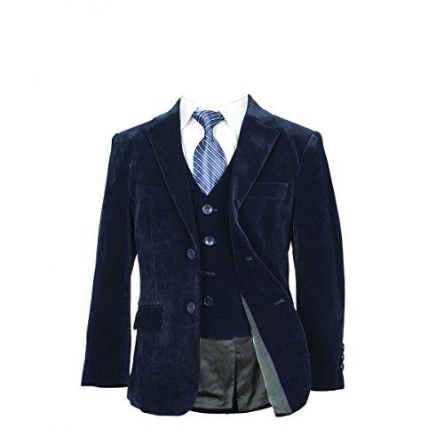 SIRRI Jungen Anzug Gr. 5 Jahre, blau (Velvet Anzug)