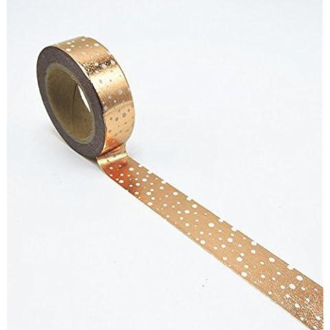 Cinta de lámina de cobre Washi con lunares blancos