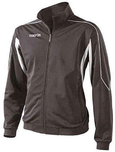 Felpa con zip completa uomo macron era top maglia tuta giacca sportiva colorata, colore: antracite, taglia: l