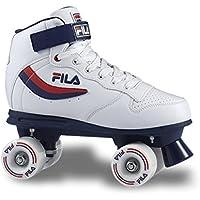 Fila Skates Ace, Pattini A Rotelle Unisex – Adulto, Bianco/Blu/Rosso, 44