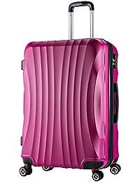 WOLTU #467 Reise Koffer Trolley Hartschale mit erweiterbare Volumen, Reisekoffer Hartschalenkoffer 4 Rollen, M/L / XL/Set, leicht und günstig, M L XL 3er M/L/XL/Set