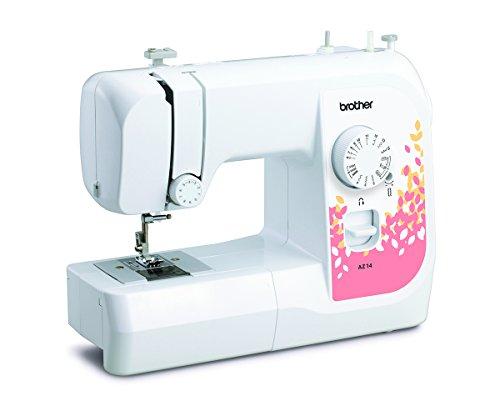Brother AZ14 Machine à Coudre Acier Inoxydable Blanc/Rose...
