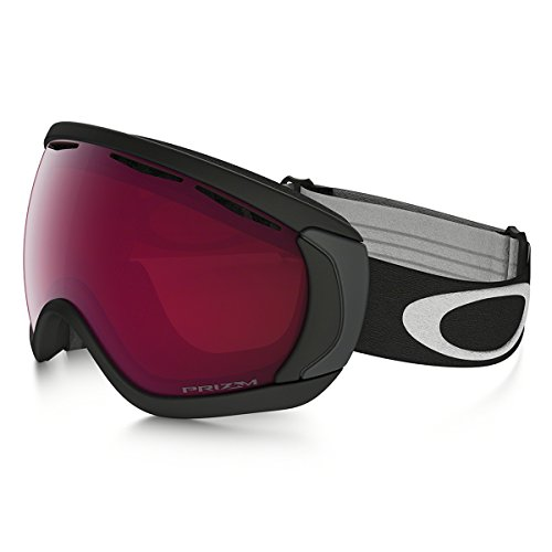 Oakley Men's Canopy (A) Snow Goggles, Matte Black, Prizm Rose, Large