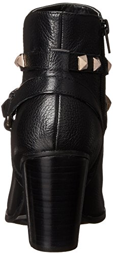 Guess Fran Rund Leder Mode-Stiefeletten Black