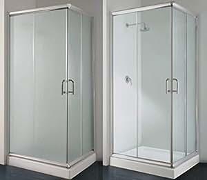 Box doccia angolare 80x100 con vetro opaco o trasparente - Box doccia fai da te ...