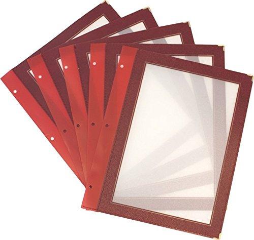 securit-set-di-porta-menu-con-inserti-in-legno-per-fogli-in-formato-a4-5-pezzi-colore-vinaccia