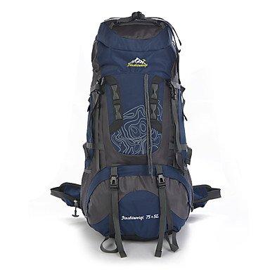 75 L Rucksack Klettern Freizeit Sport Camping & Wandern Wasserdicht Staubdicht tragbar Multifunktions Green
