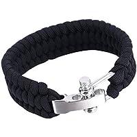 vige Outdoor Camping Überleben Armband Weave Handmade 7-Stand Edelstahl Schäkel Schnalle Self-Rettung Überleben... preisvergleich bei billige-tabletten.eu