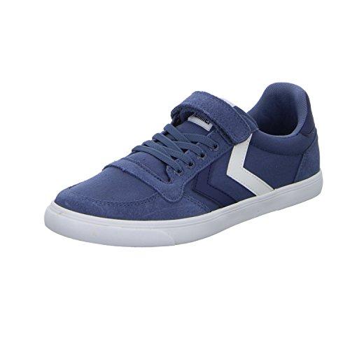 Hummel Unisex-Kinder Slimmer Stadil Low JR Sneaker, Blau (Vintage Indigo), 38 EU