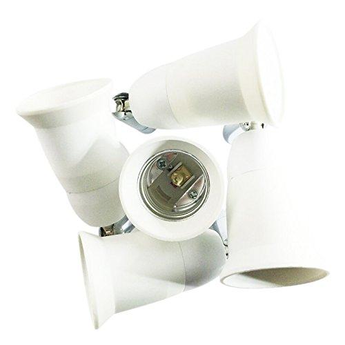 PQZATX E27 5 in 1 LED Licht Lampe Adapter Converter Split Splitter Sockel -