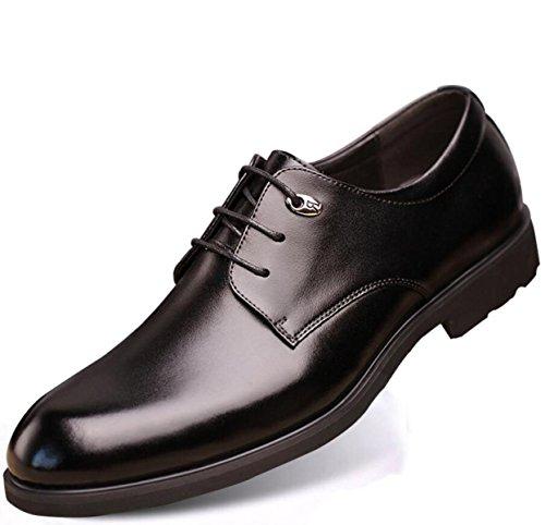 Scarpe Uomo Affari Scarpe Di Cuoio Inghilterra Casual Traspirante Pelle Abito Scarpe Rotonde Black