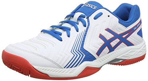 ASICS Gel-Game 6 Clay, Scarpe da Tennis Uomo, Bianco (White/Racer Blue 100), 44 EU