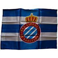 RCD Espanyol Badesp Bandera, Azul/Blanco, 150 x 100 cm