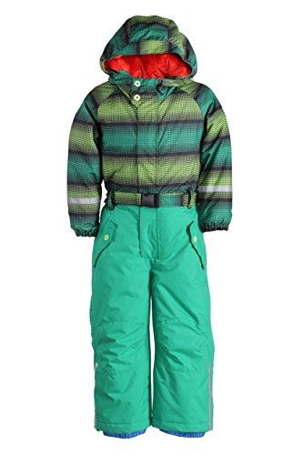 Killtec Kinder Ski Overall mit Kapuze Sarly Mini, Grün/Lime/Schwarz/Grüne Hose, 80, 25184-000
