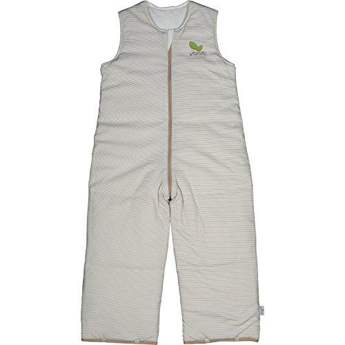 Minou Walker 90 Schlafsack mit Beinen 100% Bio Baumwolle Khaki Gestreift 141790