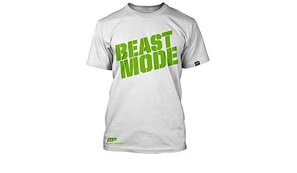 08b4e8b4 Beast Mode T-shirt, White - X-Large by MusclePharm Sportwear M:  Amazon.co.uk: Sports & Outdoors