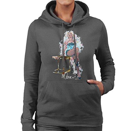 Sidney Maurer Marilyn Monroe Stockings Official Women's Hooded Sweatshirt Anthracite