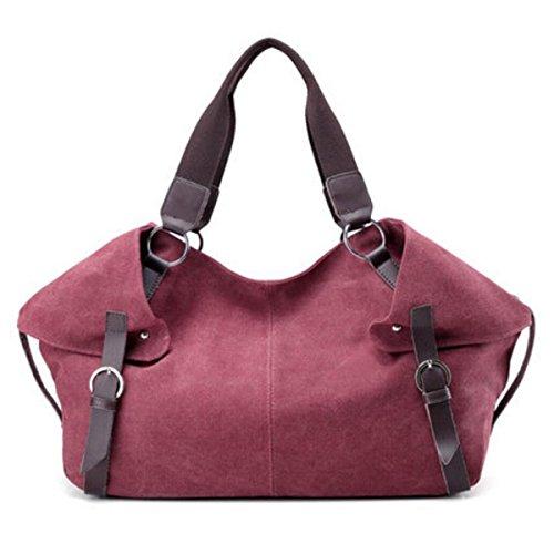 Leinenbeutel Schulterbeutel Kurierbeutel Einfach Lässig Big Bags Adrett Handtasche Persönlichkeit Gürtel Mit Hohen Kapazität Tasche PurpleCoffeeColor