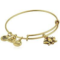 Alex and Ani Charity By Design Lotus Blossom Rafaelian Gold Bangle Bracelet