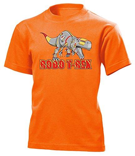 love-all-my-shirts Robo T-Rex 5176 Kinder T-Shirt (K-Ora) Gr.128 (Orange Triceratops Kostüm)