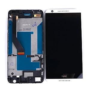 Original HTC Desire 820 LCD mit Rahmen (Bildschirm Anzeige Screen) Weiss