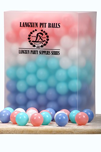 Langxun Pack of 200 Four Color Ball Pit Balls - Phthalate Free BPA Free Crush Proof Plastic Ball | Ideal Gifts for Kids & Photo Booth Props for Baby and Kids