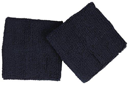 Schweißband / Armband im 2er Pack / Farbe: navy (Navy Schweißbänder)