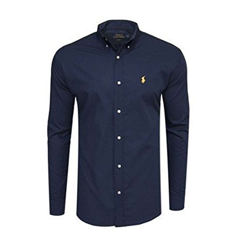 Ralph Lauren Polo Men's Custom Fit Poplin Shirt White Navy Black S - XXL