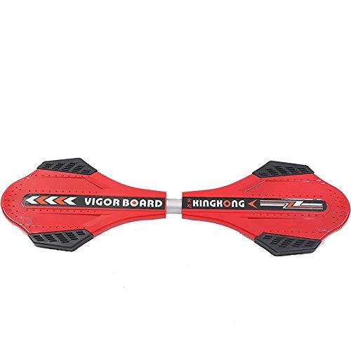 MOMIN-sports Klassisches Skateboard Der Roller-Erwachsene Zweiradschlangen-Brett-Vitalitätsbrett-Drachen-Skateboard der Kinder Geeignet für Anfänger und Profis (Farbe : Rot, Größe : Free Size)