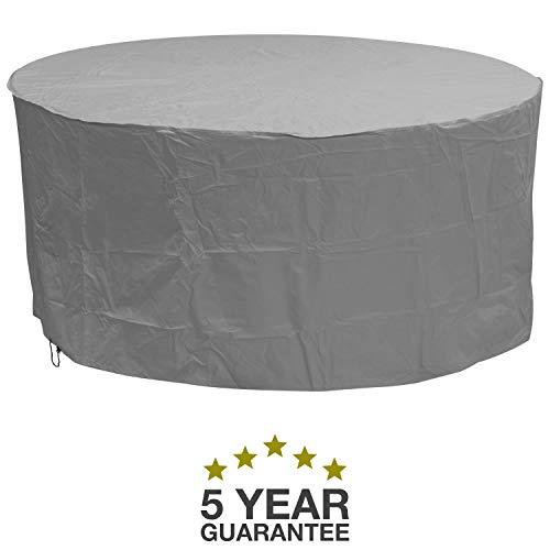 Oxbridge - Bâche de protection - ronde/imperméable - pour meubles d'extérieur - garantie 5 ans - gris - grande taille