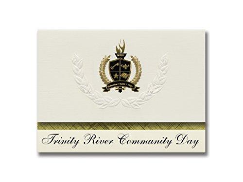 Signature Announcements Trinity River CommunityDay (Weaverville, CA) Abschlussankündigungen, Präsidential-Stil, Grundpaket mit 25 goldfarbenen und schwarzen metallischen Folienversiegelungen