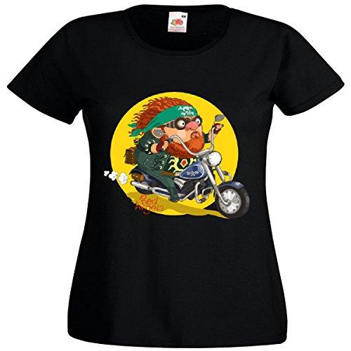 Damen T-Shirt Motiv-600587 Größe 2XL Farbe Schwarz Druck 600587