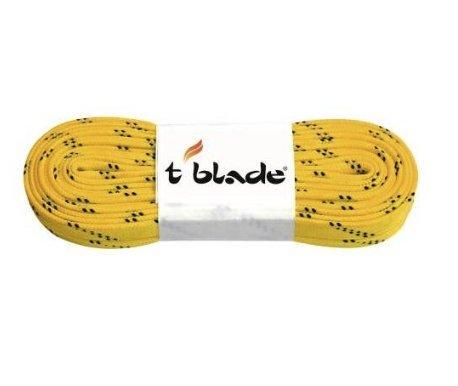 t blade Schnürriemen für Schlittschuhe Schnürsenkel tblade gewachst (gelb)