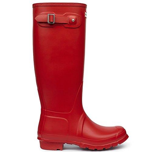 Damen Hunter Original Tall Winter Regen Festival Gummistiefel Stiefel Militär Rot