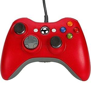 Althemax® kabelgebundene USB Game Pad Joysticks Controller Für Microsoft Xbox 360 PC Windows 10 Rot
