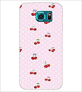 PrintDhaba Cherries D-2293 Back Case Cover for SAMSUNG GALAXY S6 EDGE (Multi-Coloured)