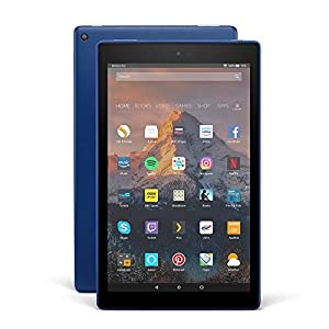 Fire HD 10 Tablet, 1080p Full HD Display, 32 GB, Blue—with Special Offers (Previous Generation - 7th)