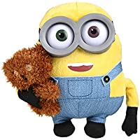 Simba 6305873070 Peluche Minions Bob con Orsetto, 22 cm, Multicolore