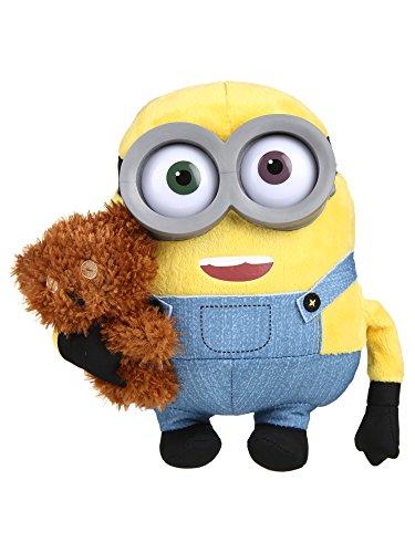 Simba 6305873070 - Minions Plüsch Bob mit Bär 22 cm gelb