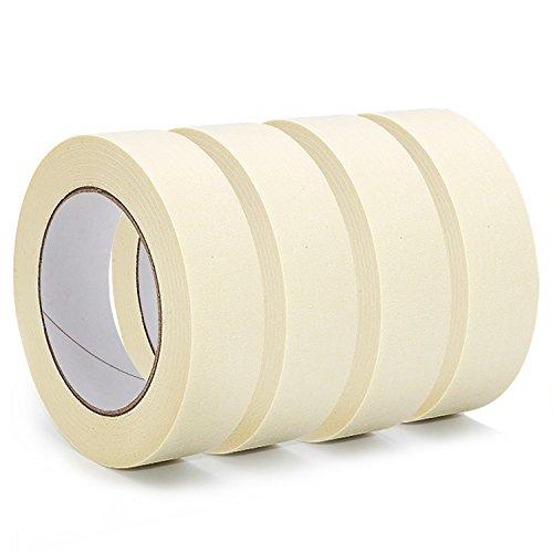 Masker Tape, anumit 3/4in Ziel Multi Surface Klebeband, Malerei, Verpackung und markiert, mehr. Einfaches Abreißen Klebeband und Klebstoff hinterlässt keine Rückstände, 4Rollen = 240Meter