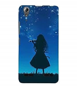 Nextgen Designer Mobile Skin for Lenovo A6000 Plus :: Lenovo A6000+ :: Lenovo A6000 (girl violin music sky stars)