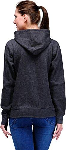 Scott-Womens-Premium-Cotton-Blend-Pullover-Hoodie-Sweatshirt-Charcoal-Grey